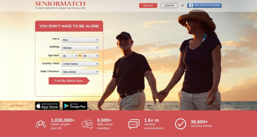 main page SeniorMatch
