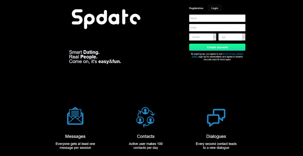 SPdate main page