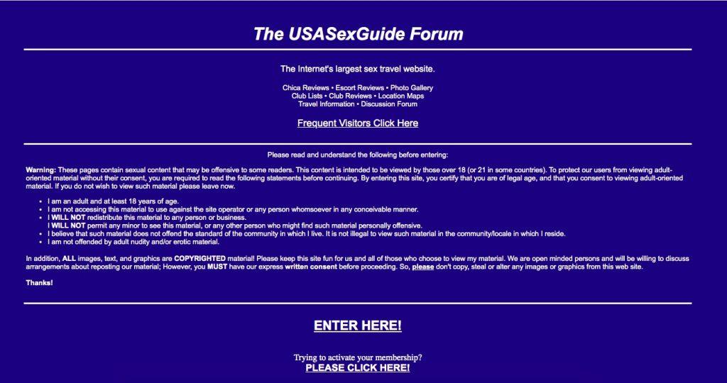UsaSexGuide main page