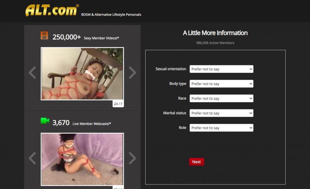 alt.com questionnaire