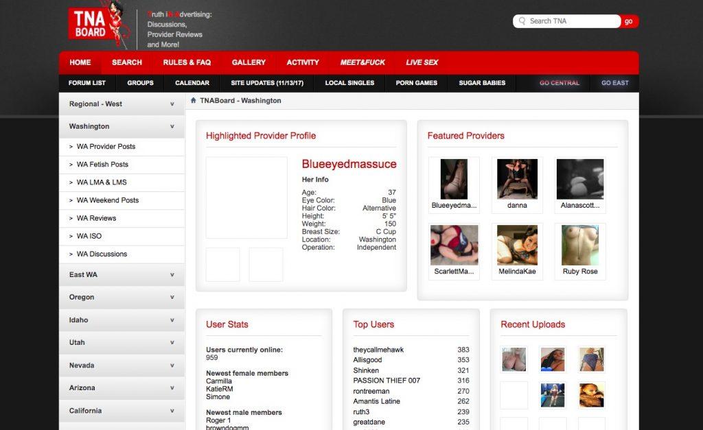 TNABoard main page